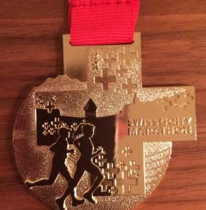 SwissCity Marathon Lucerne vom 27.10.2013 - Finisher Medaille