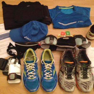 SwissCity Marathon Lucerne vom 27.10.2013 - Meine sieben Sachen sind gepackt