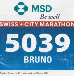 SwissCity Marathon Lucerne vom 27.10.2013 - Meine Startnummer 5039