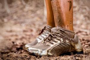 Laufschuhe stark verschmutzt