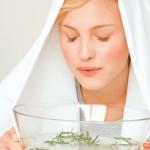 Hausmittel gegen Erkältung, Inhallieren