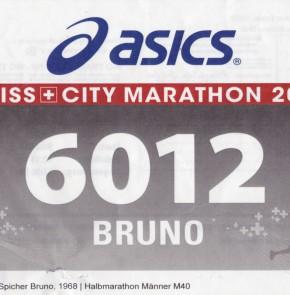 SwissCity Marathon Lucerne vom 26.10.2014 - Startnummer 6012