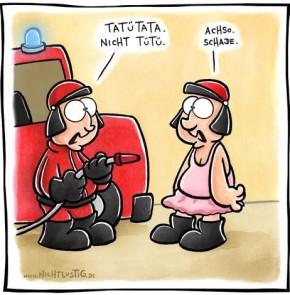 Humor zum Sonntag: Tatütata nicht Tütü! Achso. Schade.
