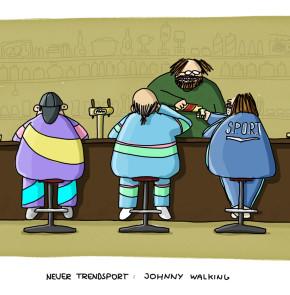 Humor zum Sonntag: Neue Trendsportart - Johnny Walking