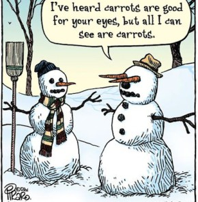 Humor zum Sonntag: I've heard carrots are good for your eyes, but all I can see are carrots.