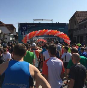 38. Kerzerslauf vom 19.3.2016 - Startblock 13, wenige Meter hinter der Elite