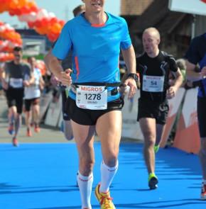 38. Kerzerslauf vom 19.3.2016 - Zieleinlauf mit Persönlicher Bestleistung
