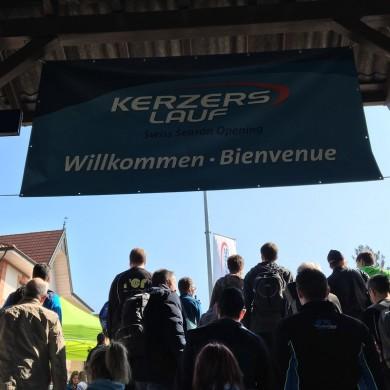 38. Kerzerslauf vom 19.3.2016 - Ankunft im Bahnhof Kerzers