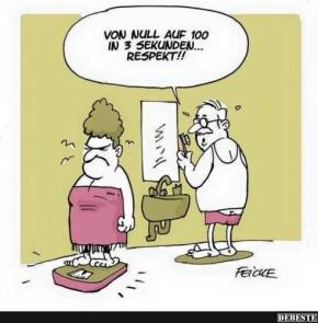Humor zum Sonntag: von Null auf 100 in 3 Sekunden.... Respekt!!