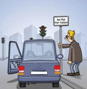 Humor zum Sonntag: Bei Rot hier halten.