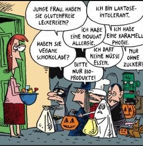 Humor zum Sonntag: Halloween Allergien