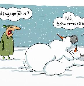Humor zum Sonntag: Frühlingsgefühle? Nö, Schneetreiben