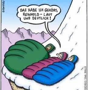 Humor zum Sonntag: Das habe ich gehört Reinhold - laut und deutlich!