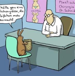Humor zum Sonntag: Ich hätte gerne eine Körbchengrösse, die ein bisschen mehr hermacht.