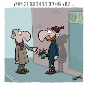 Humor zum Sonntag: Warum der Kaffeedeckel erfunden wurde...