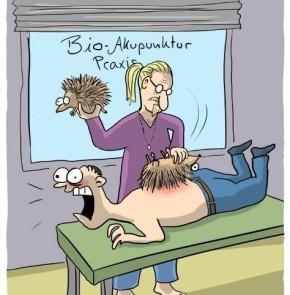Humor zum Sonntag: Bio-Akupunktur Praxis