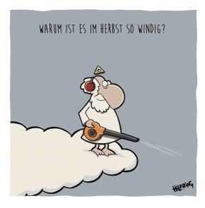 Humor zum Sonntag: Warum ist es im Herbst so windig?