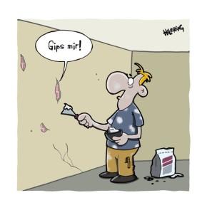 Humor zum Sonntag: Gips mir!