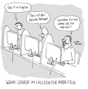 Humor zum Sonntag: Wenn Lehrer in einem Call Center arbeiten.