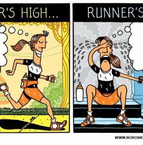 Humor zum Sonntag: Runner's High... Runner's Low.
