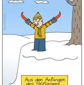 Humor zum Sonntag - Aus den Anfängen des Skiefliegens