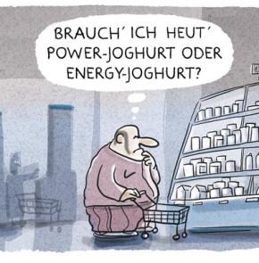 Humor zum Sonntag - Brauch ich heute ein Power-Joghurt oder Energy-Joghurt?