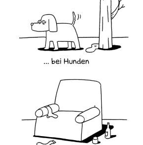 Humor zum Sonntag - Die Markierung des Reviers bei Hunden und bei Männern.