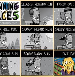 Humor zum Sonntag: Running Faces