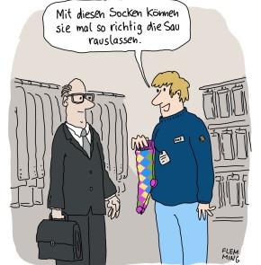 Humor zum Sonntag - Mit diesen Socken können sie mal so richtig die Sau rauslassen.