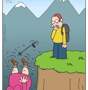 Humor zum Sonntag: Bergwandern hilft, die Pfunde purzeln zu lassen.