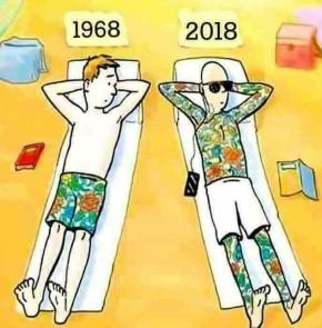 Humor zum Sonntag: Tattoo's 1968 und 2018