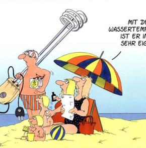Humor zum Sonntag: Mit der Wassertemperatur ist er ein wenig eigen...