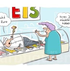 Humor zum Sonntag: Macht drei Euro; Ihren Job möchte ich haben.