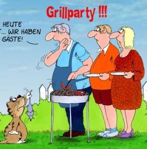Humor zum Sonntag: Grillparty! Heute nicht... wir haben Gäste!