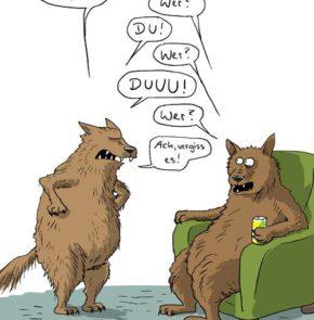 Humor zum Sonntag: Du könntest mir mal im Haushalt helfen! Der Werwolf