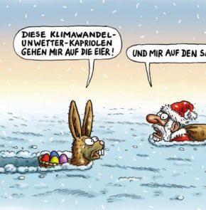 Humor zum Sonntag: Diese Klimawandel-Unwetter-Kapriolen gehen mir auf die Eier! Und mir auf den Sack!