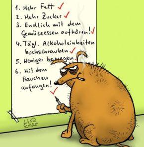 Humor zum Sonntag: Gute Vorsätze fürs neue Jahr - der Ungeshund