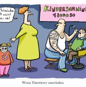 Humor zum Sonntag: Wenn Tätowierer umschulen.