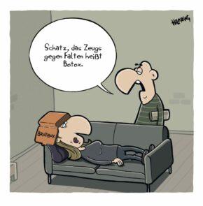 Humor zum Sonntag: Schatz, das Zeugs gegen Falten heisst Botox.
