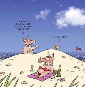 Humor zum Sonntag: Schatz, hast Du Lust auf eine Runde Federball? Schweine!!