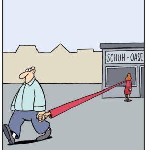 Humor zum Sonntag: Schuh-Oase