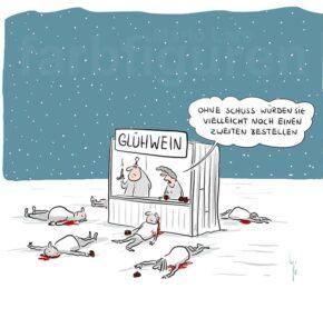 Humor zum Sonntag: Ohne Schuss würden sie vielleicht noch einen Zweiten bestellen