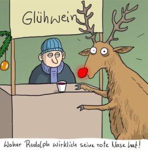 Humor zum Sonntag: Woher Rudolph wirklich seine rote Nase hat!