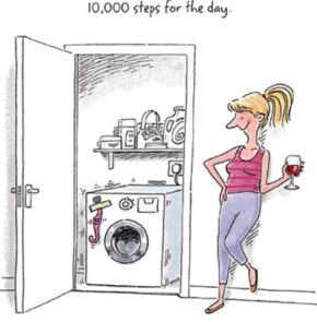 Humor zum Sonntag: Just five minutes of spin cycle and the fitness tracker would reach 10'000 steps for the day