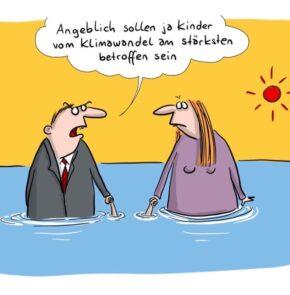 Humor zum Sonntag: Angeblich sollen ja Kinder vom Klimawandel am stärksten betroffen sein.