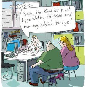 Humor zum Sonntag: Nein, ihr Kind ist nicht Hyperaktive, sie beide sind einfach unglaublich träge!