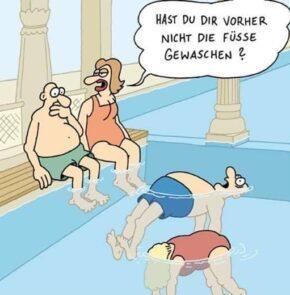 Humor zum Sonntag: Hast Du Dir vorher nicht die Füsse gewaschen?