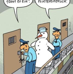 Humor zum Sonntag: Warum fährt er ein? Wintereinbruch!