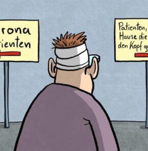 Humor zum Sonntag: Corona Patient oder zu Hause die Decke auf den Kopf gefallen?