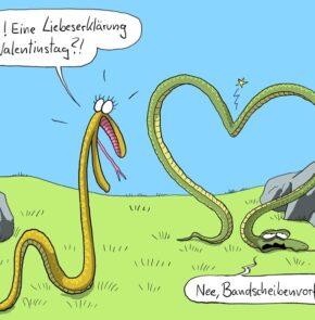 Humor zum Sonntag: Wow! Eine Liebeserklärung zum Valentinstag?! Nein, Bandscheibenvorfall.